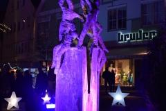 Illumination des Brunnen am Fuchseck in der Ellwanger Innenstadt