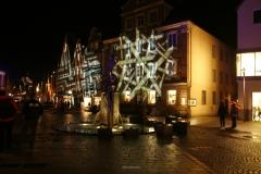 Illumination der Gebäude der Ellwanger Innenstadt